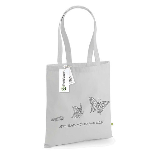 Organic Shopper Grey - Farfalla