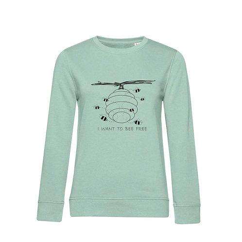Organic Woman Sweatshirt Sage - Api