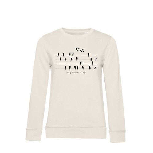 Organic Woman Sweatshirt Natural - Rondini