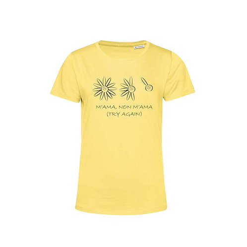 Organic Woman T-shirt Yellow - Margherita