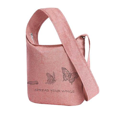 Recycled Shoulder Bag Brick - Farfalla