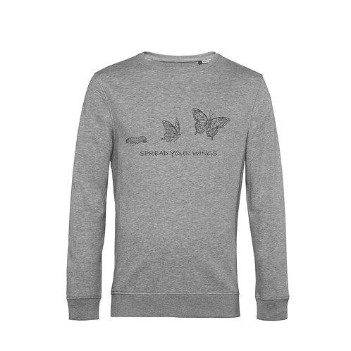 Organic Sweatshirt Grey - Farfalla