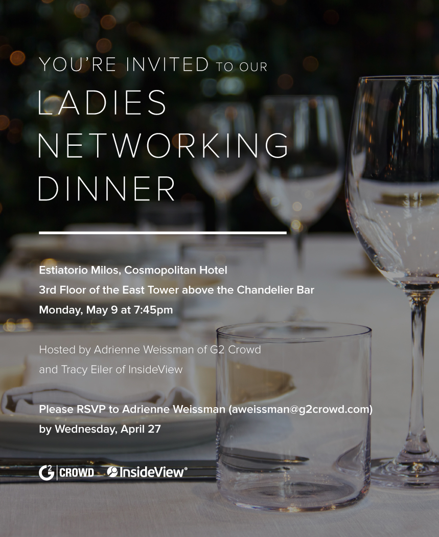 Networking dinner invitation