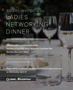 Networking dinner invitation