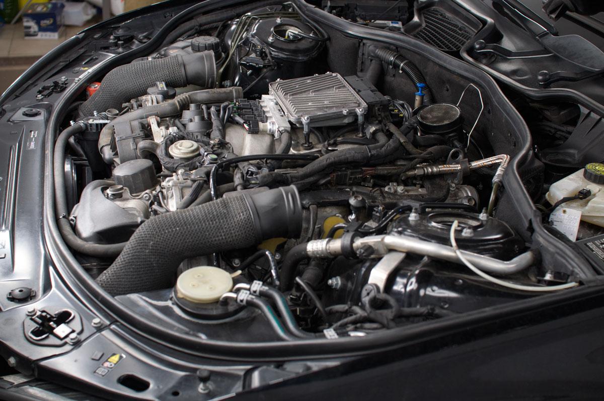 Mercedes s221 5.5 ГБО