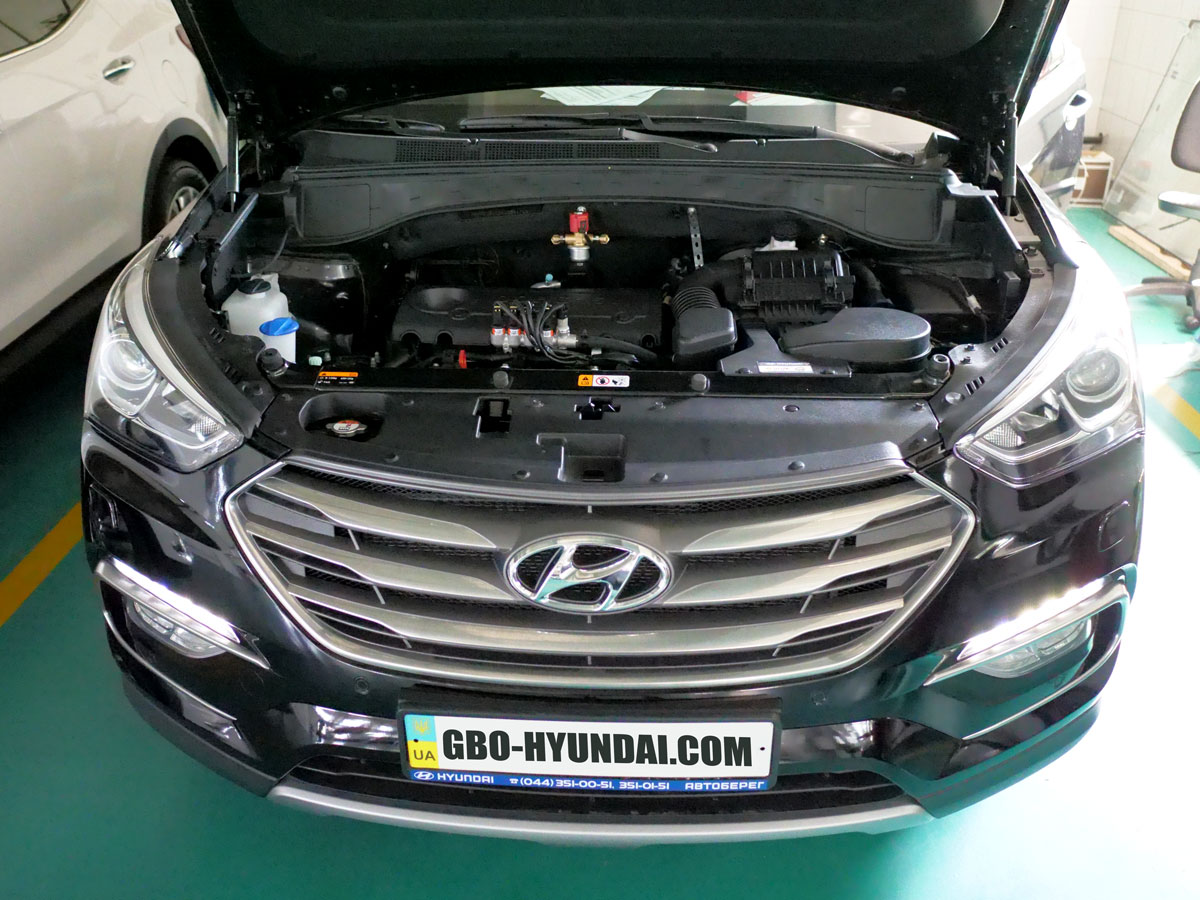 BRC ГБО Hyundai Santa Fe2017