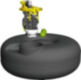 Газовый баллон с насосом для ГБО 5 и 6 покления Vialle ( Виалле )