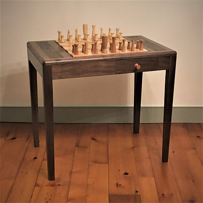Chess Table and Contemporary Chess Set