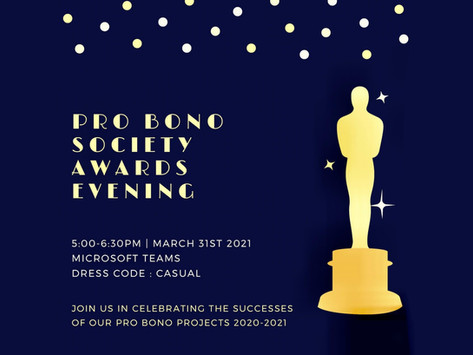 Pro Bono Society Awards Evening