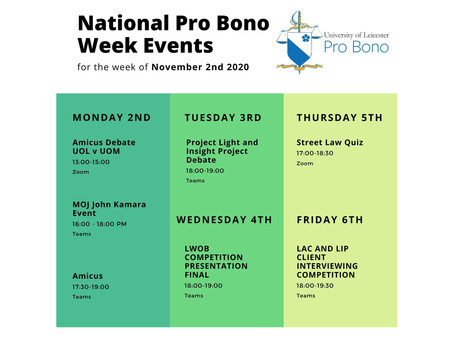 Join our Pro Bono Week events!