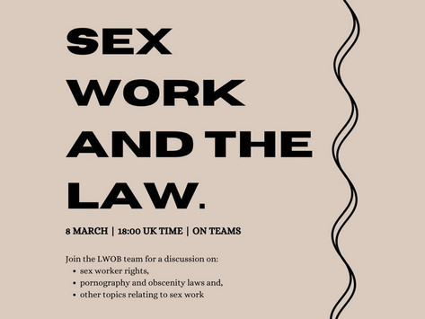 Sex Work and The Law: LWOB Event