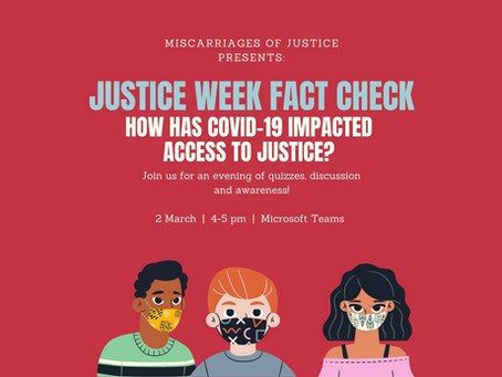 Miscarriages of Justice, Justice Week event