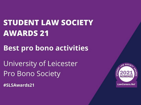 UOL Pro Bono Shortlisted for Student Law Society Awards