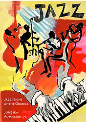 On Chesil beach Jazz poster