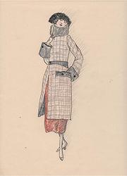 Downton Abbey - fashion sketch