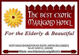 Best Exotic Marigold Hotel - leaflet design