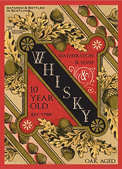 Whisky bottle label for Watherston & Sons