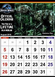 Jurassic World Calendar