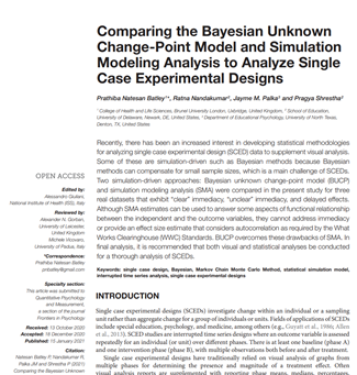 Comparing the Bayesian Unknown Change-Point Model and Simulation Modeling Analysis to Analyze SCEDs