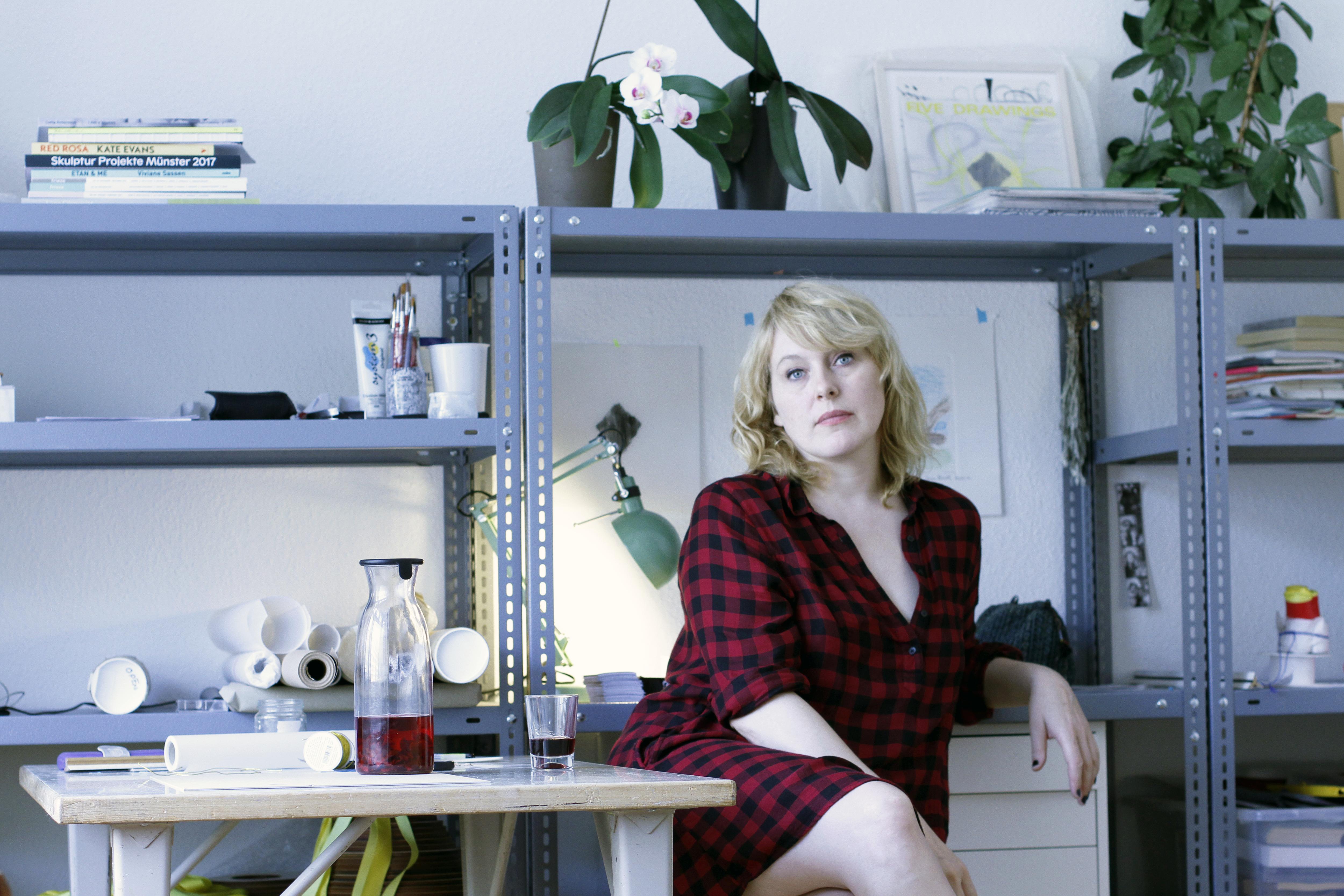 Gunnhildur in her atelier, 2017