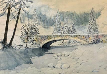 Snowfall on the Bridge