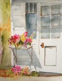 Door with Flower Box