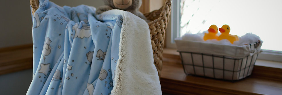 Blue Elephant Baby Cozy