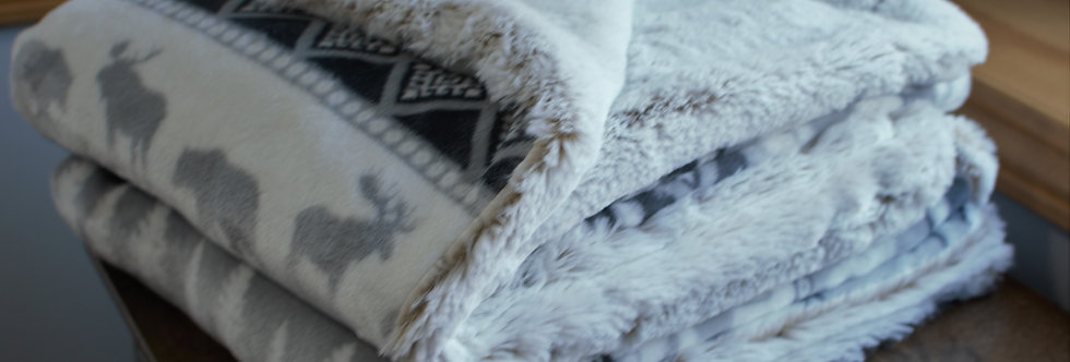 Gray and White Woodland Lush Cozy