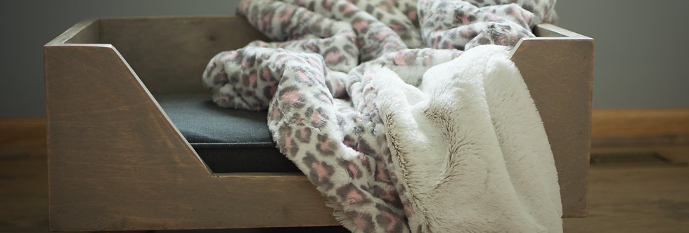 Pink and Gray Leopard Pet Cozy