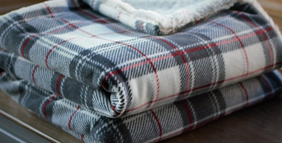 Red, Gray and White Plaid Original Cozy