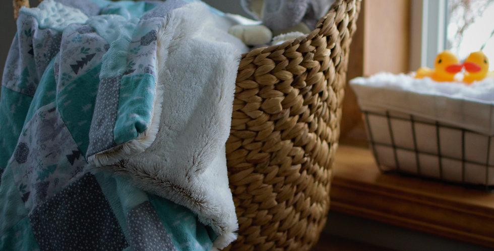 Turquoise Baby Patchwork Cozy