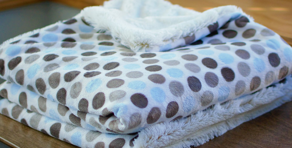 Blue and Gray Dot Toddler Cozy
