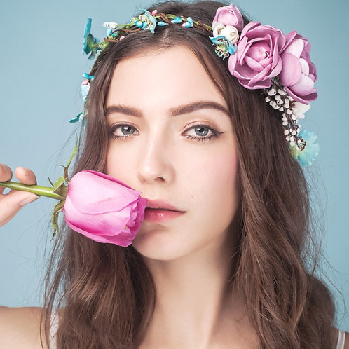 Crissy ǀ Hot Pink Silk Flower Wedding Headpiece
