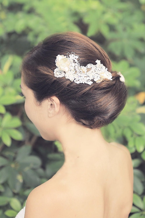 Lotus ǀ Refined Lace Headpiece