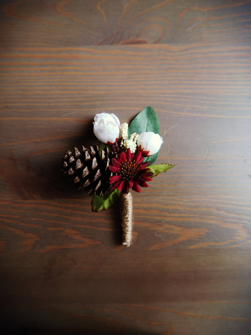 Whimsy Pinecone Boutonniere