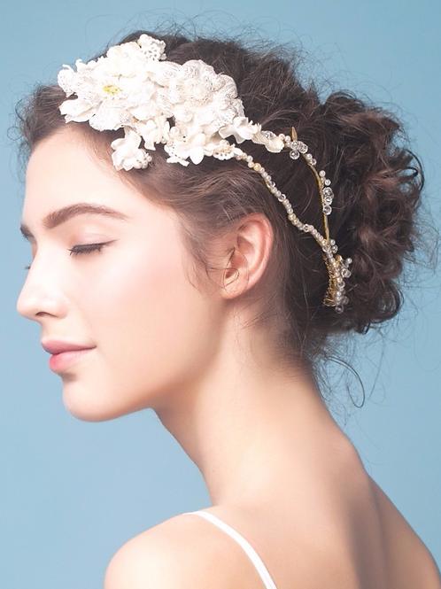 Amalia ǀ Ornate Floral Bridal Headband