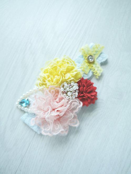Pink Lace Baby Headband
