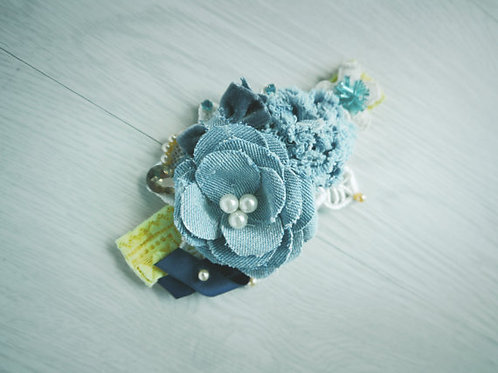 Denim Baby Headband