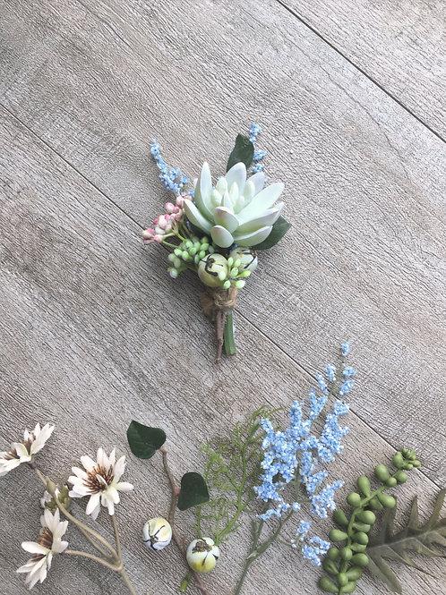 Succulent Plant Boutonniere
