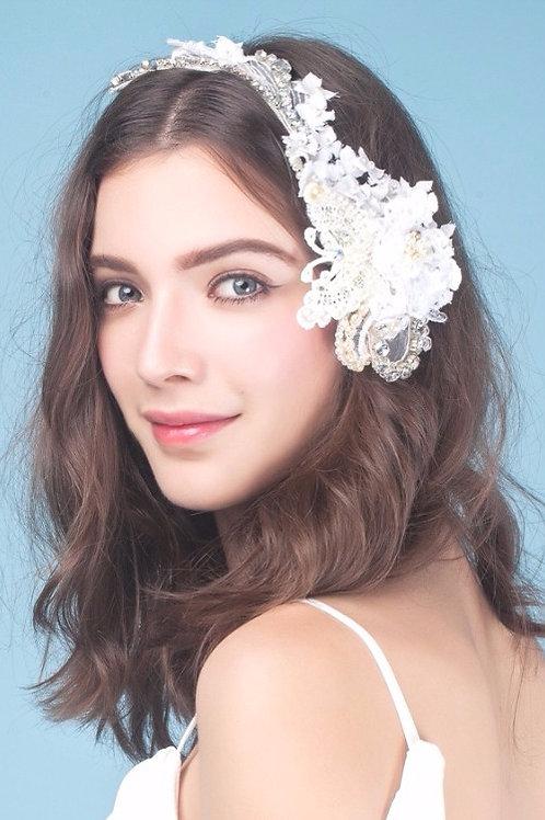 Randy   ǀ Silk Blossom Bridal Headpiece