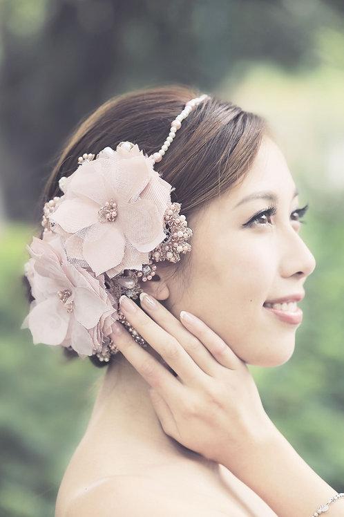 Bahar ǀ Elegant Nude Pink Floral Adornment