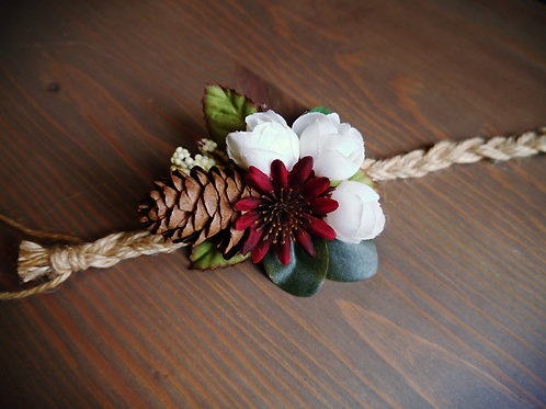 Whimsy Pinecone Wrist Corsage