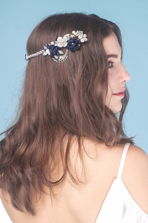 Janina ǀ Crystal Wedding Hair Piece