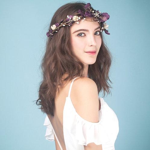Savannah ǀ Purple Bridal Flower Crown