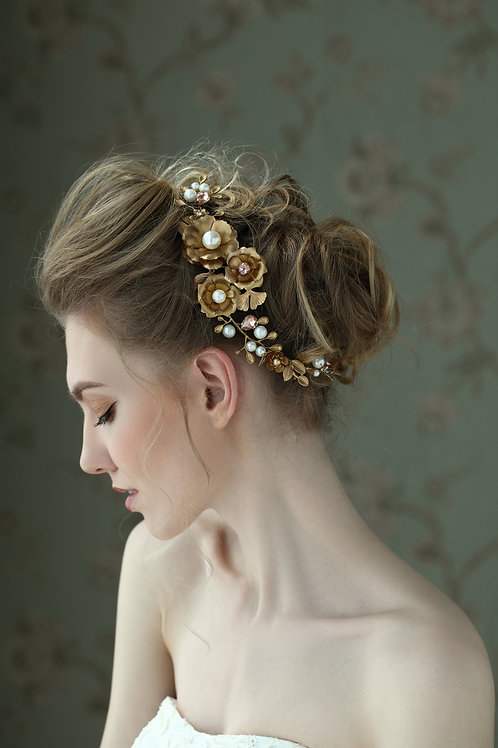 Elliana ǀ Rose Cluster Headpiece
