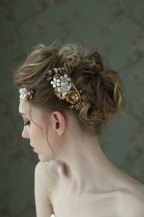 Jenna ǀ Petite Floral Cluster Comb