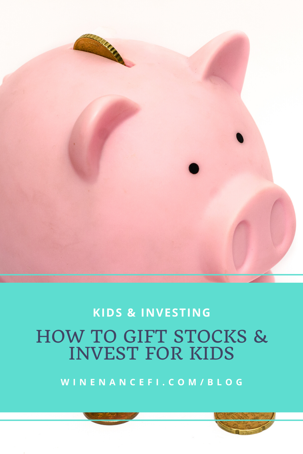 piggybank with coins showing parents how to invest for children