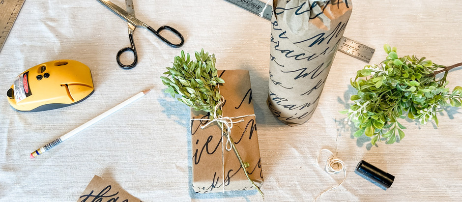 How to Make Handlettered Wrapping Paper
