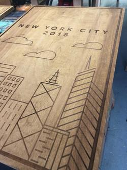 "Laser etch onto 1/2"" plywood"