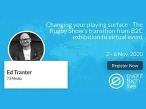 Event Tech Live, 2-6 November 2020. Ed Tranter